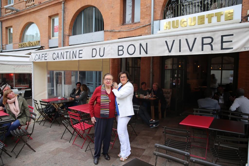 Huguette et Cathy Meliet