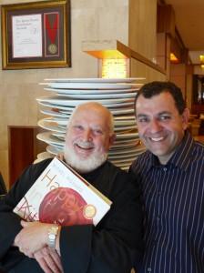 le chef Michel Richard & l'oenologue Vincent Feraud